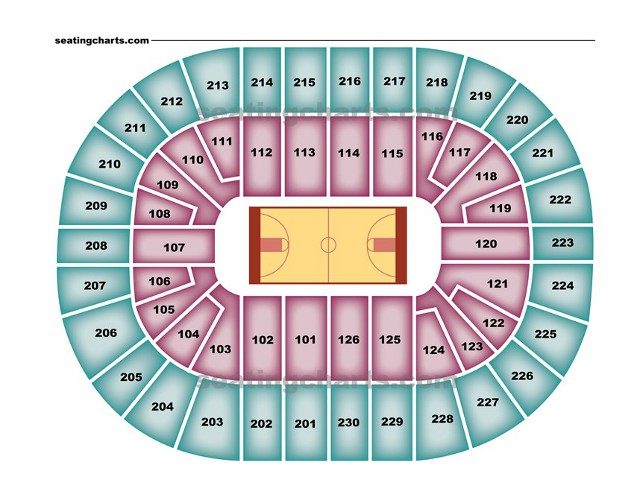 Detroit Pistons Seating Chart For Palace Of Auburn Hills